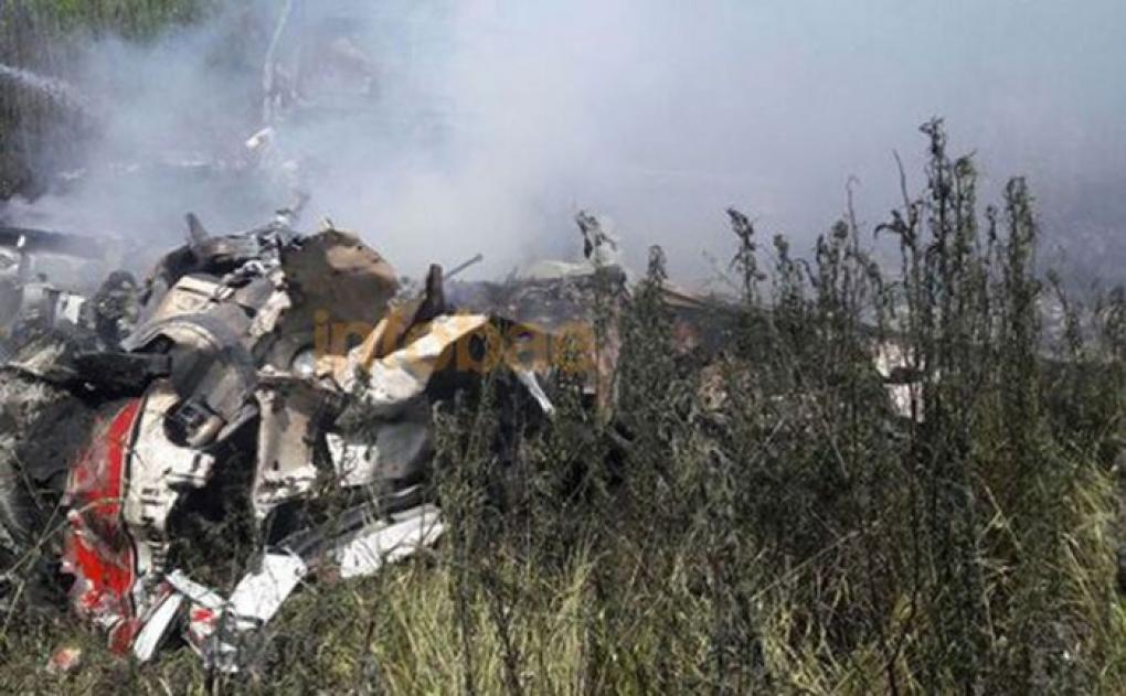 Se estrelló una avioneta en Marco Paz y murieron cinco personas